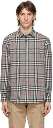 Burberry Grey Check Caxton Shirt