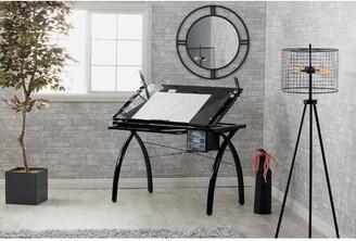 Studio Designs Futura Drafting Table Color: Black/Black Glass