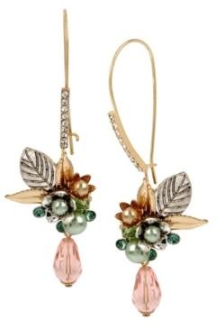 Miriam Haskell New York Flower Cluster Long Drop Earrings