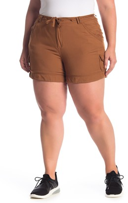 Democracy Drawstring Utility Shorts (Plus Size)