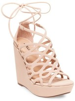 Wild Pair Women's Wild Pair Energy Platform Wedge Lace Up Gladiator Sandals