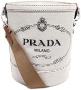 Prada Logo Print Bucket Bag