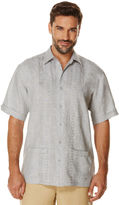 Cubavera 100% Linen Short Sleeve Embroidered 2 Lower Pocket Shirt