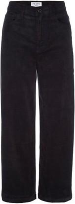 Frame Ali Corduroy Wide-Leg Cropped Pants