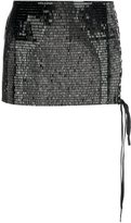 Anthony Vaccarello sequined micro skirt