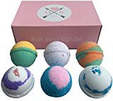 Oliver Bath Bombs Set - 6 Extra Large Size, 4.5 Ounce Per Scent - Lavender, Cucumber Melon, Moonlight Rose, Grapefruit Tangerine, Black Raspberry Vanilla and Cool Water, Aromatherapy Bath, By Rocket