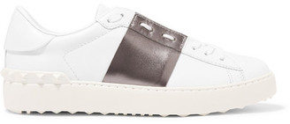 Valentino Garavani Two-tone Leather Sneakers - White