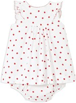 Jacadi Girls' Ladybug Dress & Bloomers Set