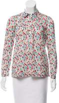 Barneys New York Barney's New York Floral Print Long Sleeve Blouse w/ Tags