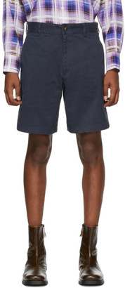 Noah NYC Navy Military Shorts