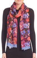 Bindya Fall Floral Cashmere & Silk Scarf