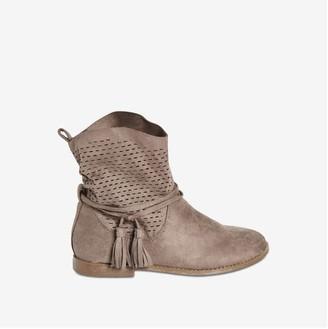 Joe Fresh Kid Girls' Tassel Detail Boots, Taupe (Size 5)