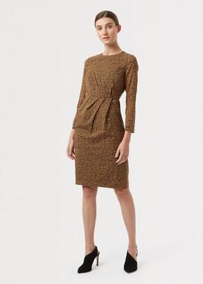 Hobbs Trina Silk Blend Animal Print Dress