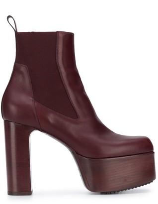 Rick Owens Platform High Heel Boots