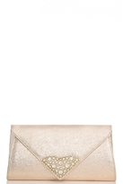 Quiz Gold Triangle Jewel Envelope Bag