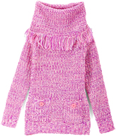 Dollhouse Fuchsia Pocket Cowl Neck Sweater - Toddler & Girls