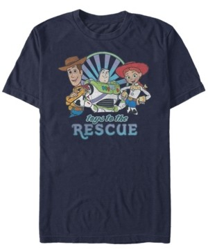 Disney Pixar Men's Toy Story Buzz Woody Jesse Toys to the Rescue, Short Sleeve T-Shirt