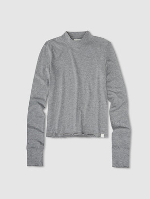 Jason Scott L/S Mock Neck - Heather Grey