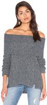 White + Warren Three Way Funnel Neck Sweater