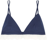Raphaëlla Riboud Beverly lace-trimmed cotton soft-cup bra
