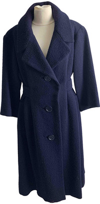 Christian Dior Blue Wool Coats