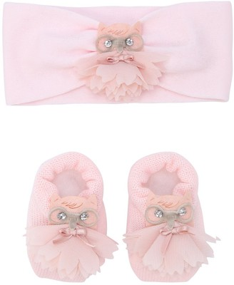 La Perla Owl Wool Knit Headband & Socks Set