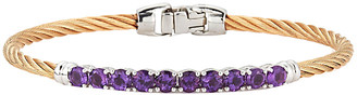 Alor Burano 14K 2.32 Ct. Tw. Amethyst Bangle Bracelet