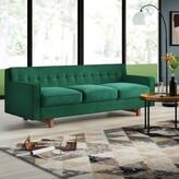 """Mid-Century MODERN Lomonaco Classic Velvet 84.7"""" Square Arm Sofa Mercury Row Upholstery: Jade"""