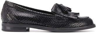 Kurt Geiger Klarke textured low heel loafers