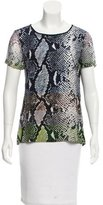 Diane von Furstenberg Printed Short Sleeve Top