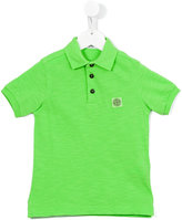 Stone Island Junior - logo patch polo shirt - kids - Cotton - 8 yrs