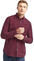 Gap Oxford tartan slim fit shirt