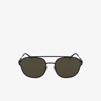 Lacoste Navigator Metal Leather Punch Sunglasses