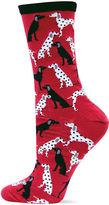 Hot Sox Dalmatians Print Crew Socks