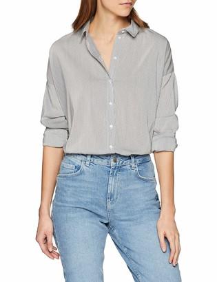 Vero Moda Women's Vmerika Stripe L/s Oversize Shirt Noos Blouse