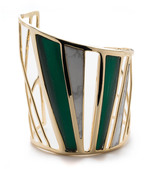 Alexis Bittar Spoked Color Blocked Cuff