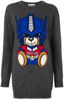 Moschino long teddy print sweater - women - Virgin Wool - XS