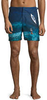 Orlebar Brown Bulldog Deep Sea Printed Swim Trunks, Blue