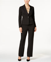 Le Suit 3-Pc. Pinstriped Pantsuit