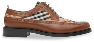 Burberry Arndale Leather & Vintage Check Brogues