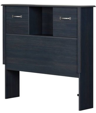 South Shore Ulysses Blueberry Bookcase Headboard with Sliding Doors, Multiple Sizes
