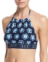 MICHAEL Michael Kors Kanoko Printed Halter Swim Top