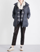 Brunello Cucinelli Monili chain-embellished shell puffer coat