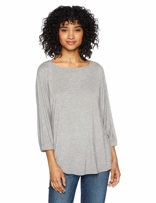 Daily Ritual Amazon Brand Women's Jersey Bunch-Sleeve Top