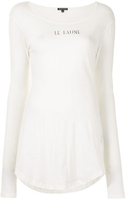 Ann Demeulemeester gathered fitted T-shirt