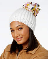 INC International Concepts Paillette Pom-Pom Beanie, Created for Macy's