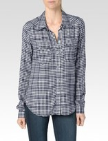 Paige Mya Shirt - Bright Navy/Custard Hartford Plaid