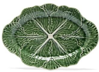 Bordallo Pinheiro Cabbage Earthenware Platter - Green