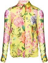 Matthew Williamson Duchess Garden Lemon Silk Shirt
