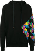 Amen beaded detail hoodie - men - Cotton/glass - 46